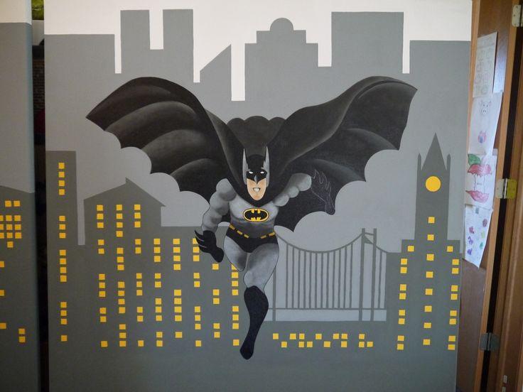 119 best images about canvas paint ideas templates on for Batman bedroom paint ideas
