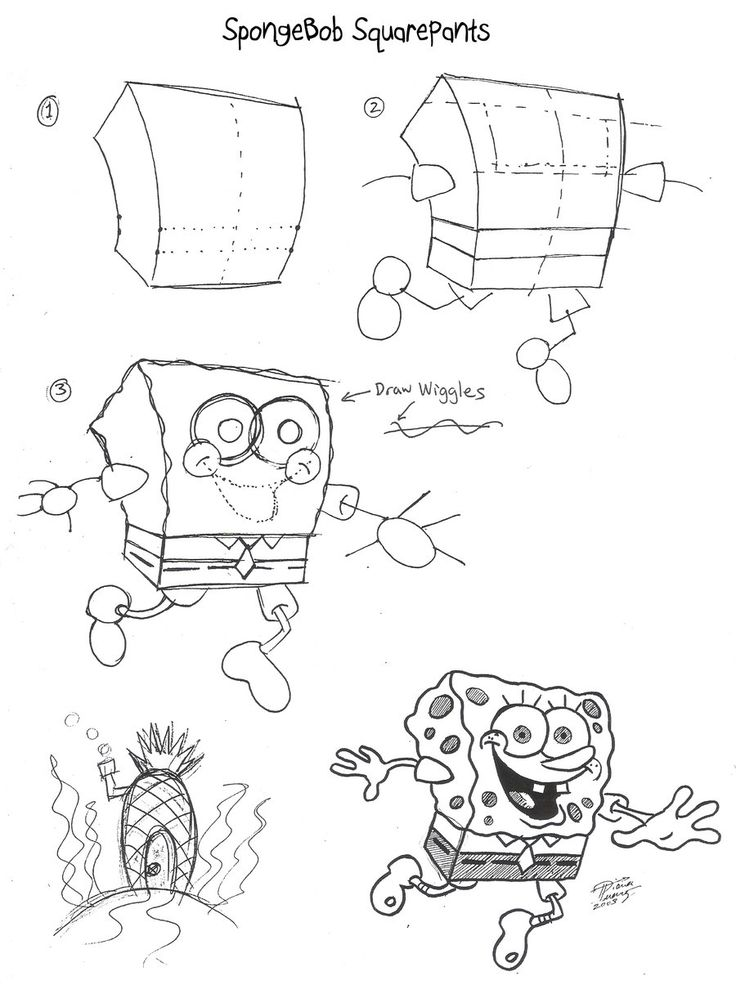 how to draw spongebob patrick