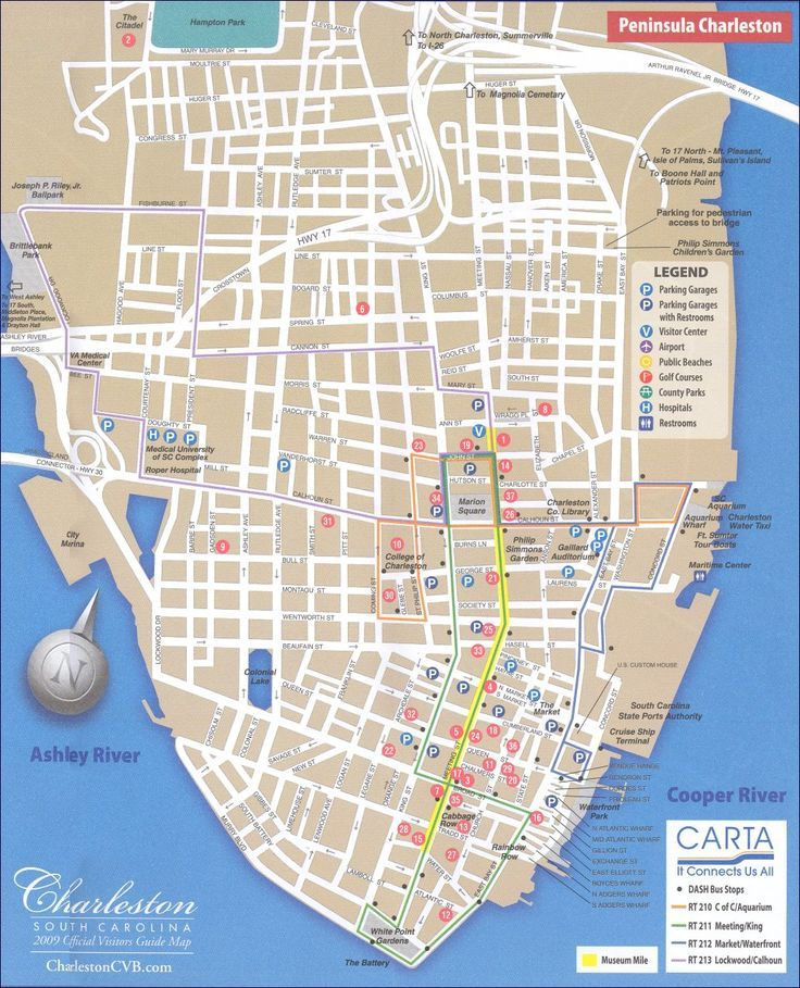 Map of Charleston SC