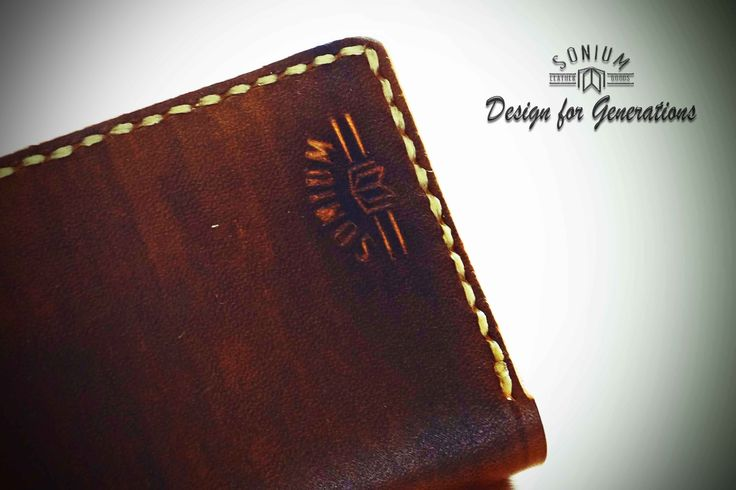 """""""SONIUM LEATHER"""" Detail of an handcrafted  SONIUM wallet"""