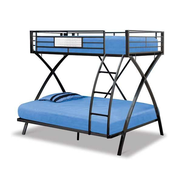 X Style Twin Over Full Bunk Bed In 2021 Bunk Beds Full Bunk Beds Twin Over Full Bunk Bed Metal frame bunk beds twin over full