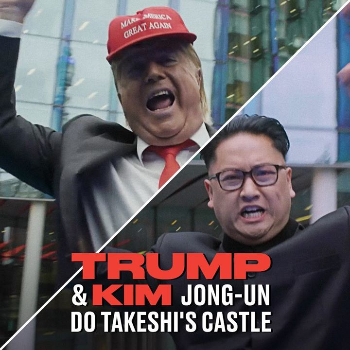Takeshi's Castle is back, and they've put Donald Trump and Kim Jong-un in the Ho...