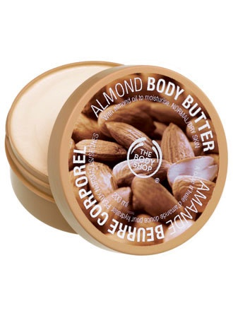 The Body Shop Almond Body Butter.  my absolute favorite !!