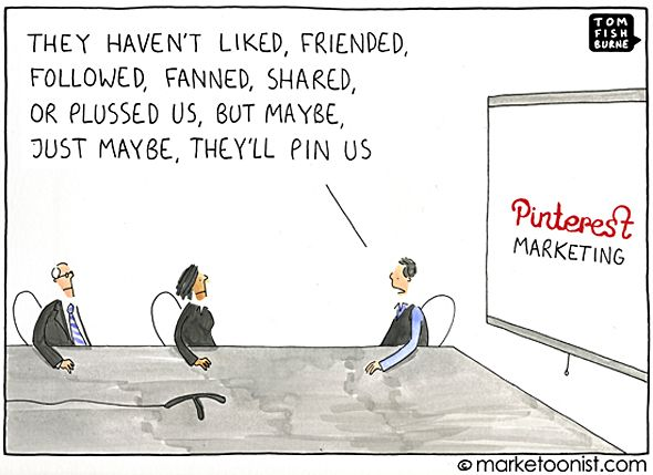Pinterest Marketing ::  Just maybe, they'll pin us.