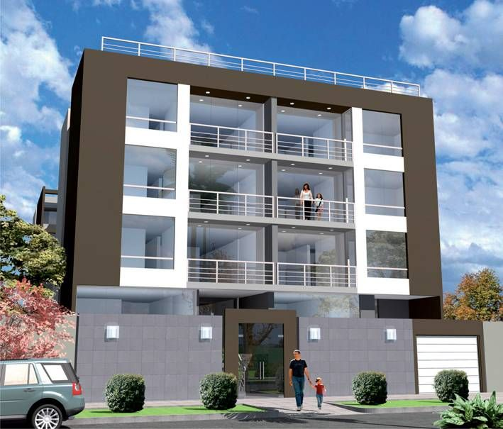 10 best edificios images on pinterest building facade for Edificio de departamentos planos
