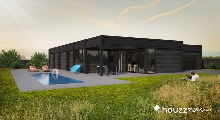 Vero - Modern Contemporary House Plan .... Browse all house plans here: www.houzzplans.co.nz