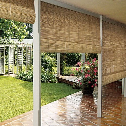 Lend a natural look to your home by Bamboo Rollup Shades   Drapery Room Ideas