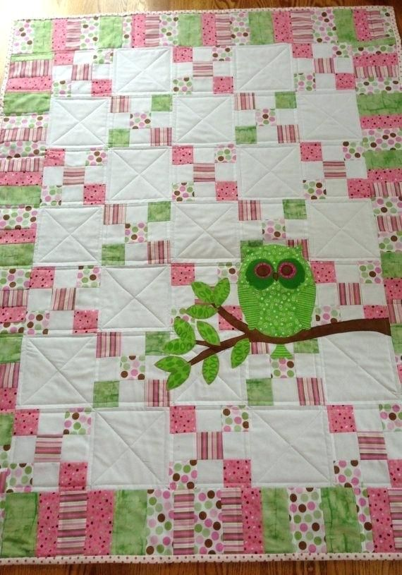 Owl Baby Quilt Pattern 360 Best Baby Quilts Images On Pinterest Childrens Quilts Baby Quilts And Baby Girl Quilts Little Owls Baby Quilt Pattern Owl Baby Quilts