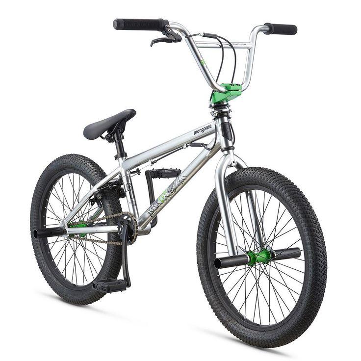 Youth Mongoose 20-Inch Legion L10 BMX Bike, Silver