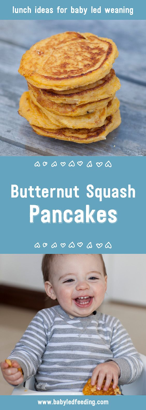 Butternut Squash and Goats Cheese Pancakes are perfect for tiny little baby led weaning hands. These pancakes are a perfect recipe for blw.