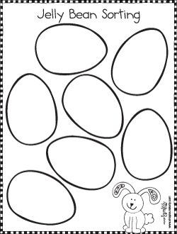 jelly bean colorin pages | Easter Jellybean Sorting