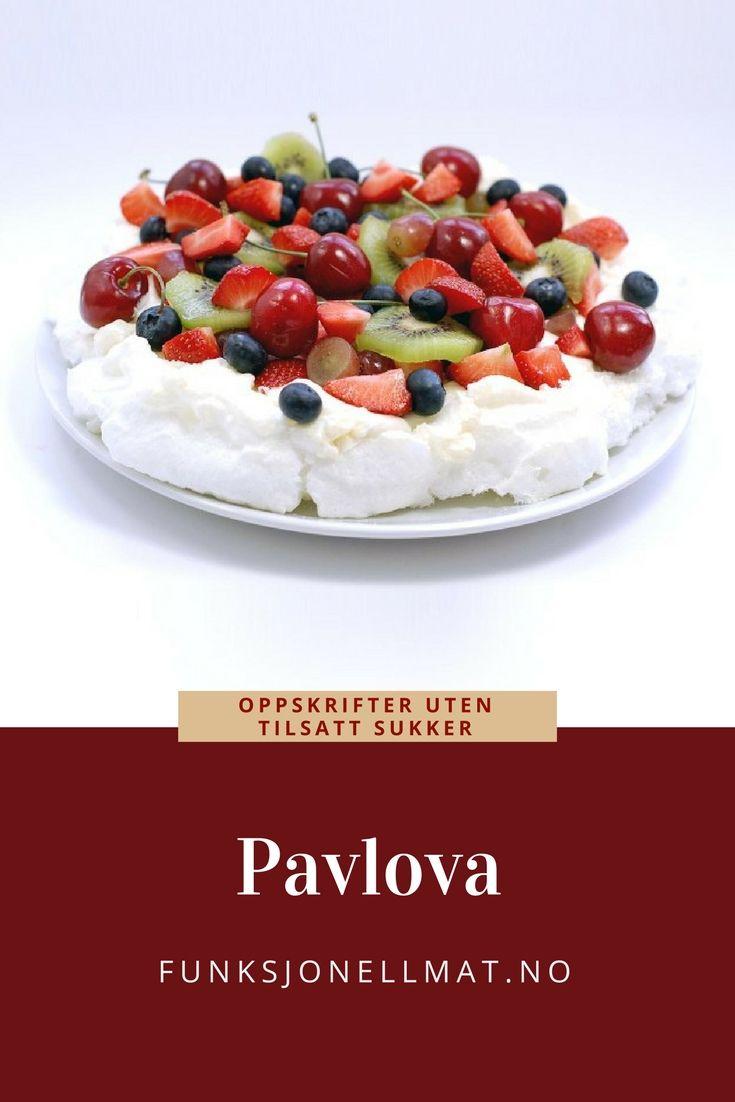 Pavlova - Funksjonell Mat | Sunn dessert | Oppskrift pavlova | Dessert sommer | Sukrin | Sugar free pavlova | Sukkerfri pavlova | Sukkerfri dessert