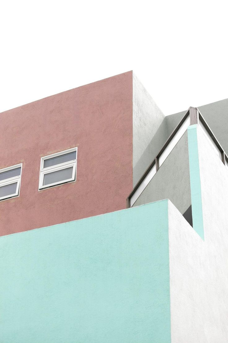 The building is all set for summer with it's colorful turquoise facade.