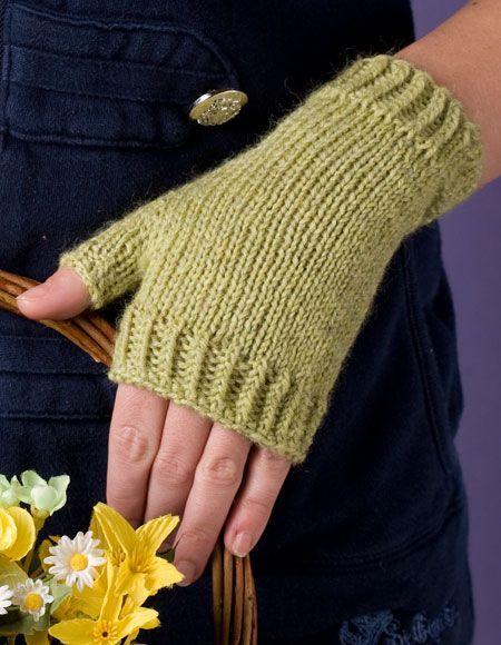 Semplice Fingerless Mitts - Knitting Patterns and Crochet Patterns from KnitPicks.com
