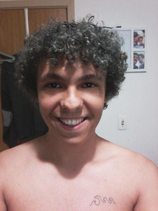 Cabelo Prata #silverHair #GrannyHair #CurlyHair #hair #boy