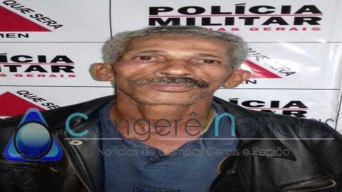 Policia Militar prende suspeito de roubo a transeunte em Campos Gerais-MG