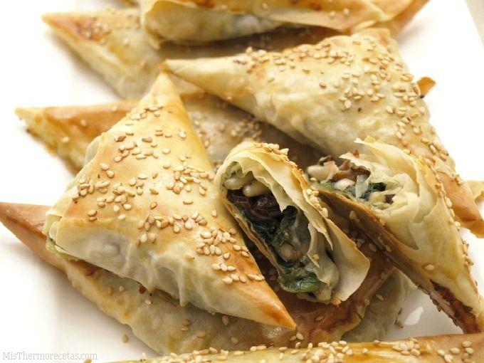 Crujientes de espinacas con roquefort - MisThermorecetas.com