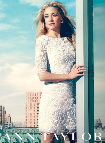 Kate Hudson Designing for Ann Taylor - Ann Taylor Spring 2013 Campaign - ELLE
