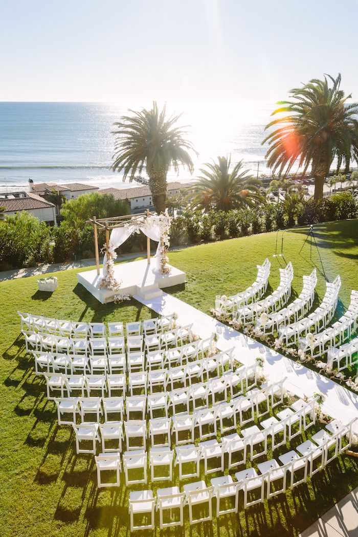 Beachy Southern California Ceremony + Winter Wonderland