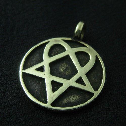 Bronze Heartagram pendant
