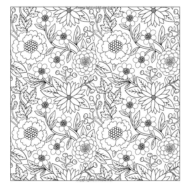 Lilt Kids Coloring Books Beautiful Floral Designs And Patterns Flower Garden