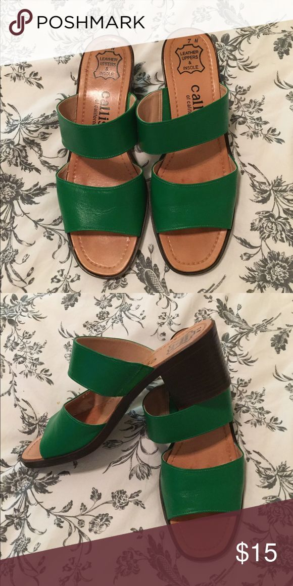 Kelly green sandals Kelly green sandals. Beautiful condition Callisto Shoes Sandals