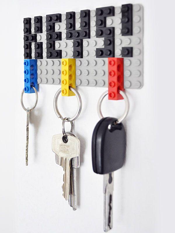 objet détourné diy lego rangement clés