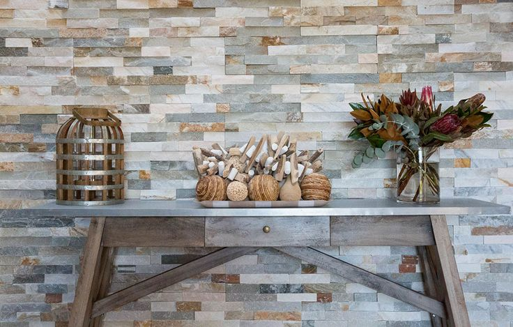 Being a stone veneer Bisque Quartz Stacked Stone is a cost effective way to dress any retaining wall. Bisque Quartz Stacked Stone has a multicolored variation which makes it great feature on columns/piers, wall on the front entrance and pool feature wall. Visit our website to learn the various characteristics of each stone and receive individual assistance in choosing just the right product to beautify your home and garden.  #stackedstones #wallcladding