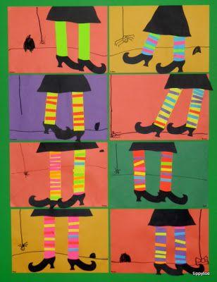 witch legs craft  Tippytoe crafts
