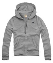 Moletom Hollister Masculino SO CAL BASIC - Cinza