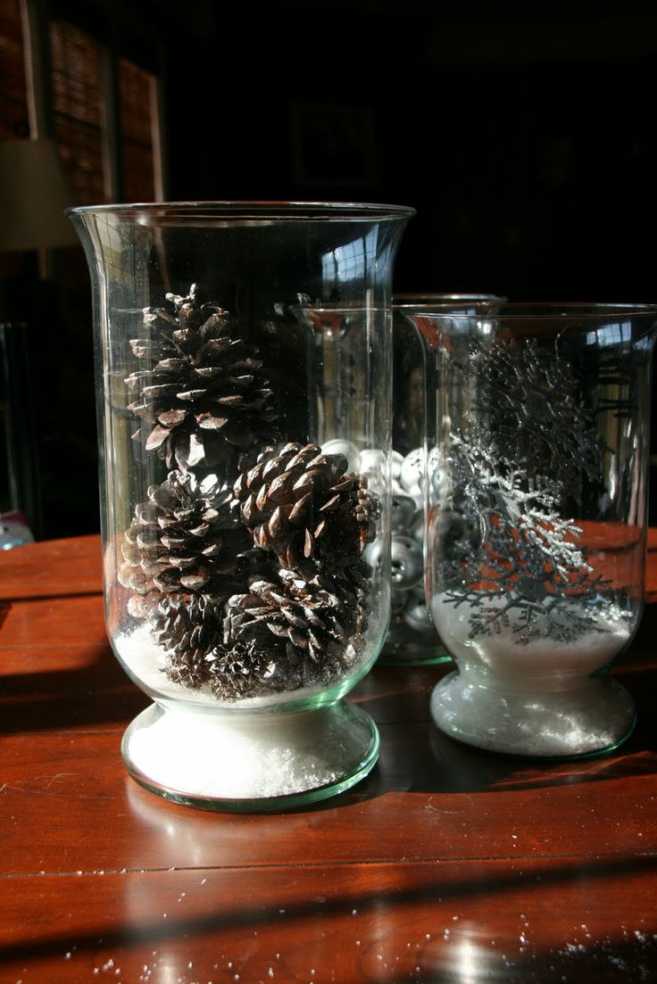 Faux Snow and Pine Cones. Pottery Barn Decor on a Dollar Tree Budget!