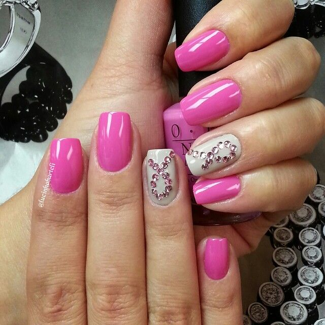 October Nail Art: 143 Best Images About Awareness Nails On Pinterest
