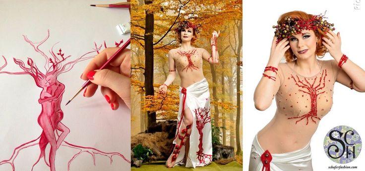 "Tree of Life- premium extra ""Enchanted Forest"" collection  #fashion #art #fashiondesigner #bellydance #stage #costume #costumedesigner #highfashion #personaldesigner"