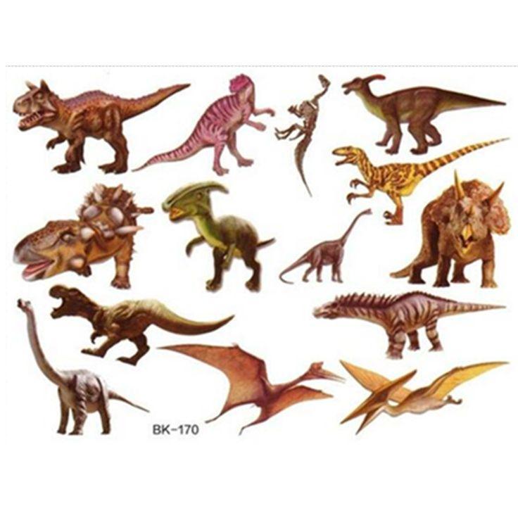 Dinosaurussen tijdelijke tattoo stickers 4 stks leuke kleurrijke dinosaurus dieren meisjes jongens kid party decoraties verjaardag gunsten in Dinosaurussen tijdelijke tattoo stickers 4 stks leuke kleurrijke dinosaurus dieren meisjes jongens kid party decoraties verjaardag gunsten van   op AliExpress.com | Alibaba Groep