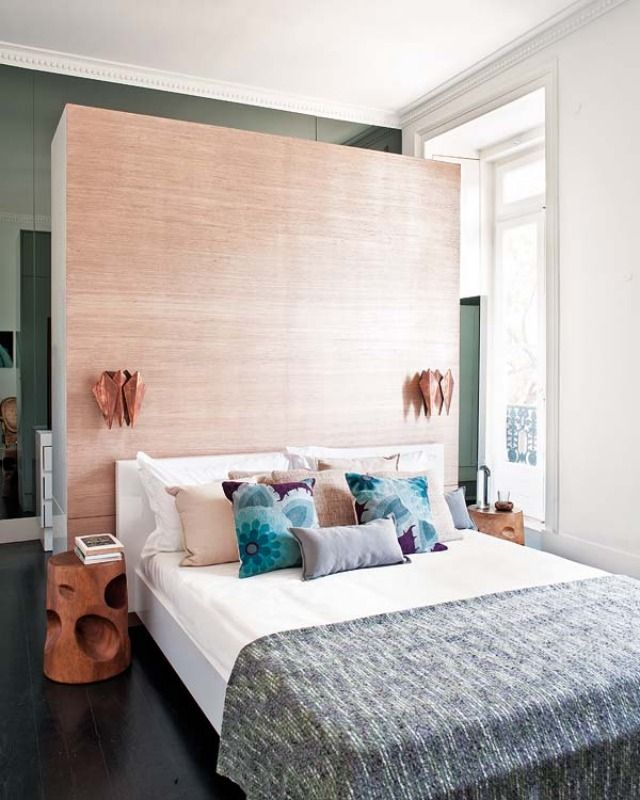 Wardrobe Storage Headboard - cutting the room in 2 area as it will be quite…