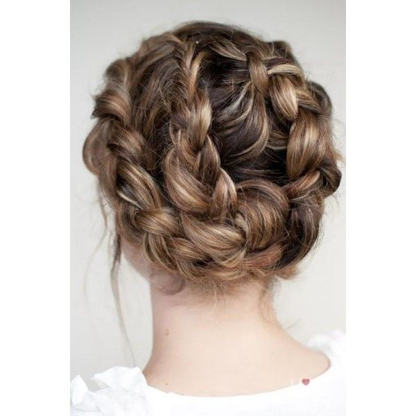 20 Fun, Fierce, and Flirty Prom Hairstyles Divine Caroline ❤ liked on Polyvore featuring hair, hair styles, hairstyles, backgrounds and beauty