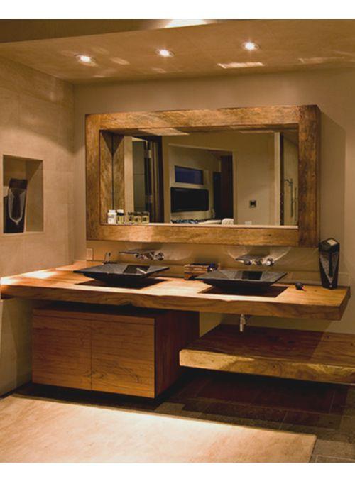 top lux elegance il doppio piano lavabo in legno massello di castagno con trattamento resina