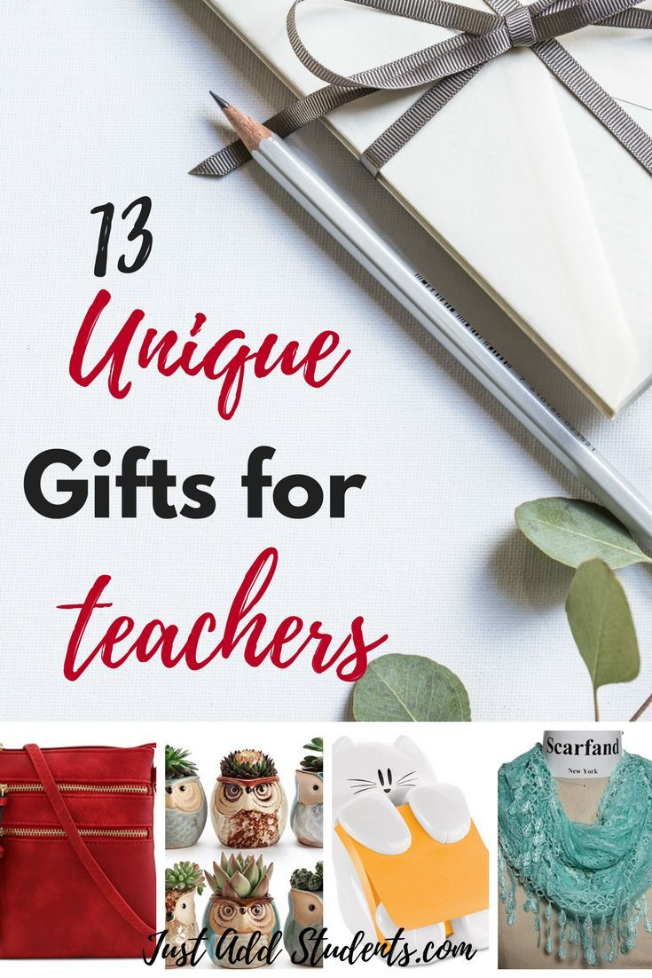 Here are 13 unique gifts for teachers that are fun, memorable, and sure to be appreciated! These gifts are appropriate for back to school, teacher appreciation, Christmas, birthdays, or the end of the school year. Great ideas for graduation gifts as well! Read the post for all the details or save for later! #gifts #teacher #giftidea