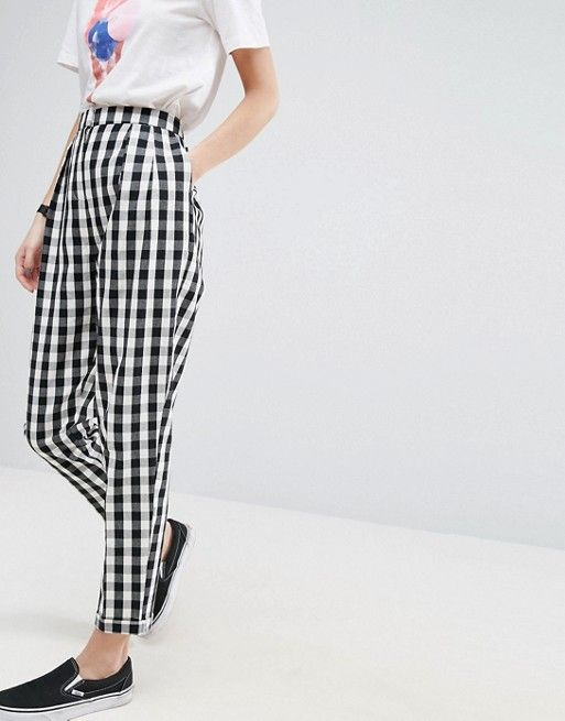 ASOS Gingham Tapered Peg Pants