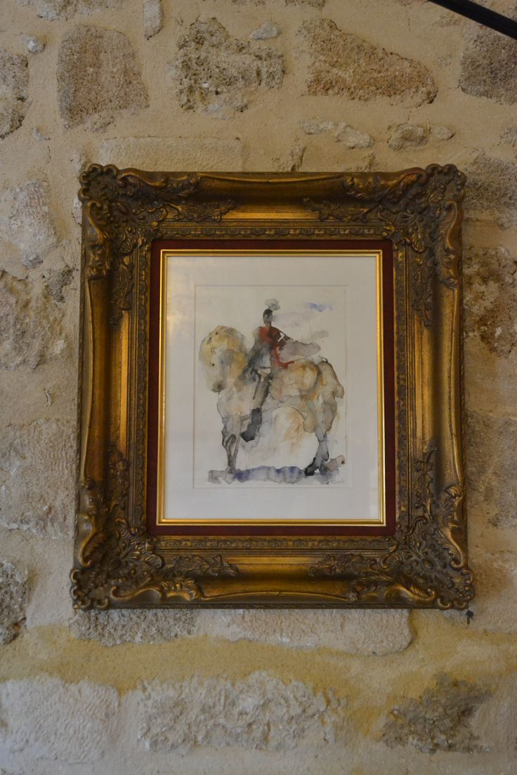 "EXCLUSIVE SUITES BOUTIQUE HOTEL. MEDIEVAL TOWN, RHODES, GREECE. - ""Guardian Angel"". Watercolours by A. Xinou, 2013. A knight in rer cloak. - kokkiniporta.com"