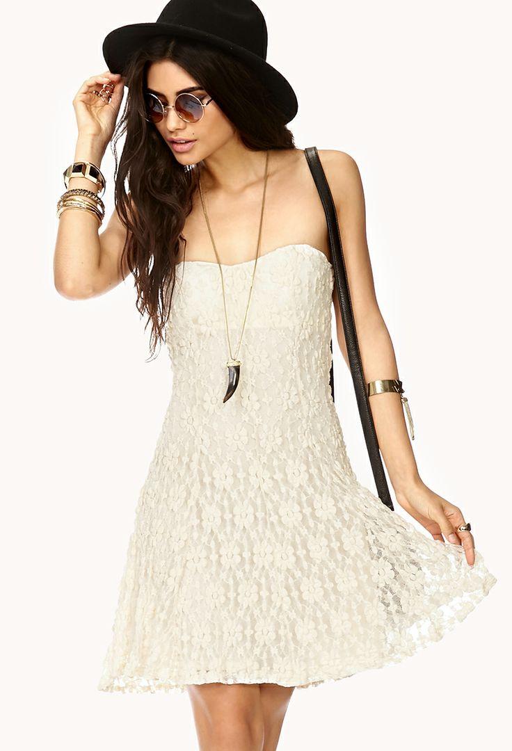 Elegant Floral Lace Tube Dress  - Want to save 50% - 90% on women's fashion? Visit http://www.ilovesavingcash.com