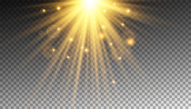 rayon de soleil dore avec paillettes ou
