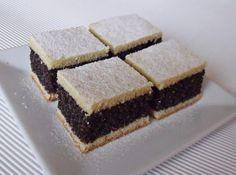 Mákos kocka 'Poppy Seed Cake' Very good old-fashioned recipe.