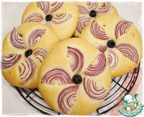 Лепешки с оливковым маслом и луком - кулинарный рецепт