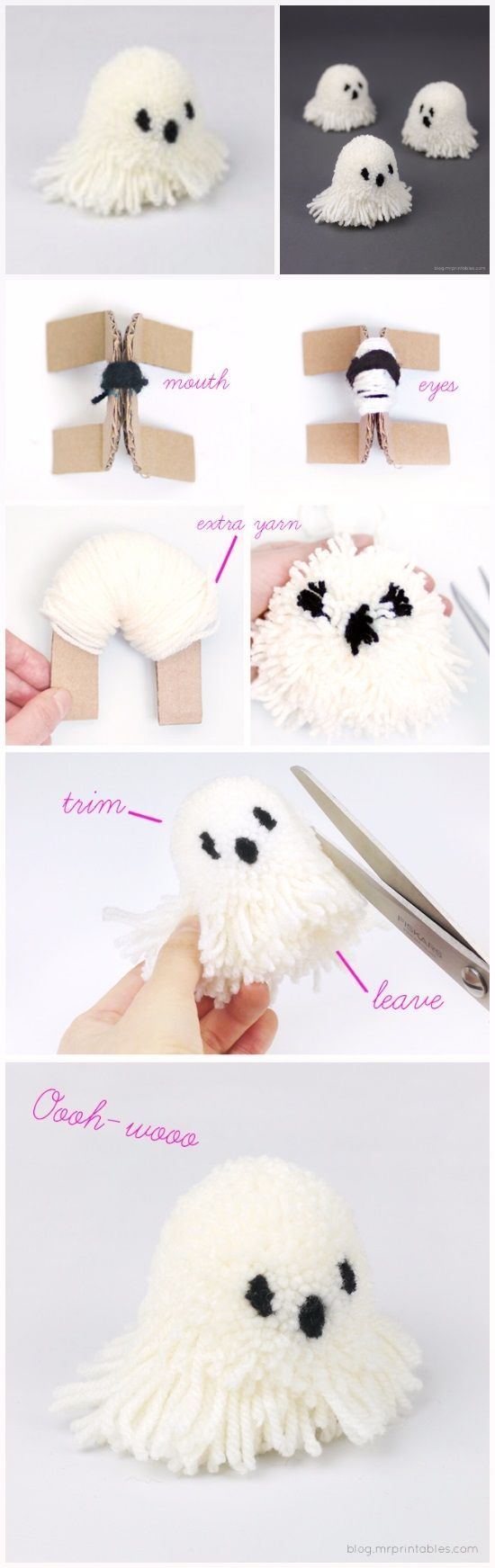 Let's Make Halloween Pompoms | DIY Fun Tips
