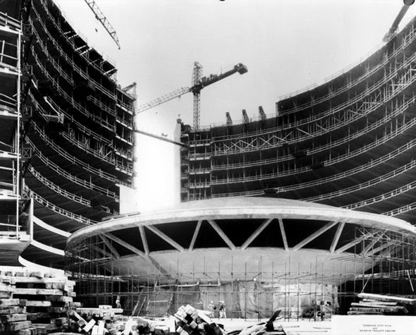 Toronto City Hall under construction in the 1960s. Lots of great pics here...