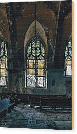 Abandoned Church Interior - Saint Louis, Mo Wood Print by Dylan Murphy