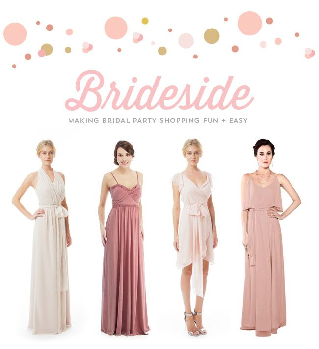 Stockist Brideside featuring our Amber and Dorian Bridesmaid dresses on Green Wedding Shoes!!