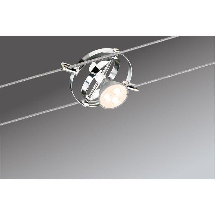Inspirational Paulmann Seilsystem Cardan LED xW GU Chrom Wei Deckenlampe Spot Strahler in M bel u Wohnen Beleuchtung Lampen eBay