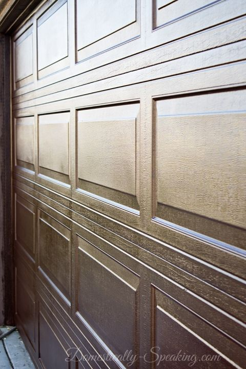 Diy garage door makeover with stain stains garage and for Stained garage doors